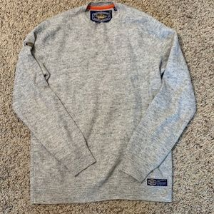 Superdry Gray Long Sleeve Thermal Top Size Large